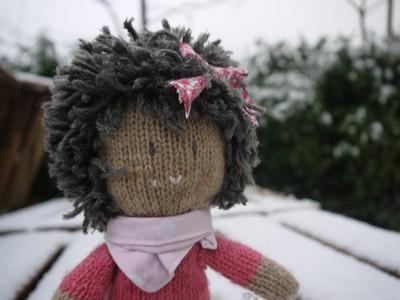 poupée laine et liberty