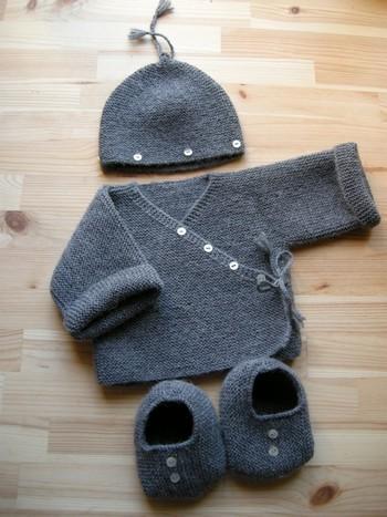 Ensemble bébé tricot
