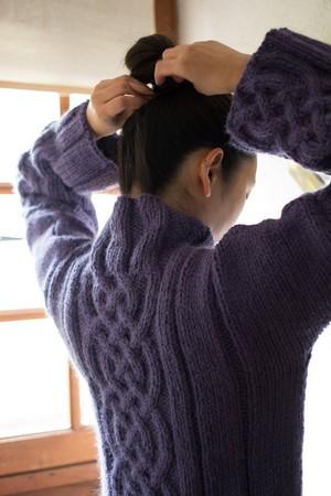 pull celtique tricot femme