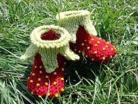 chaussons tricot bébé