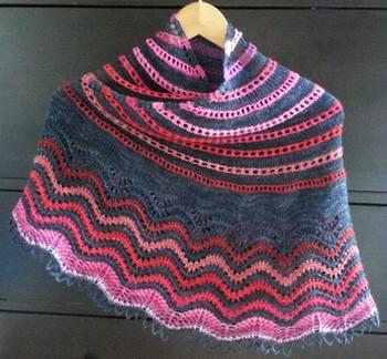 Patron modèle de châle tricot