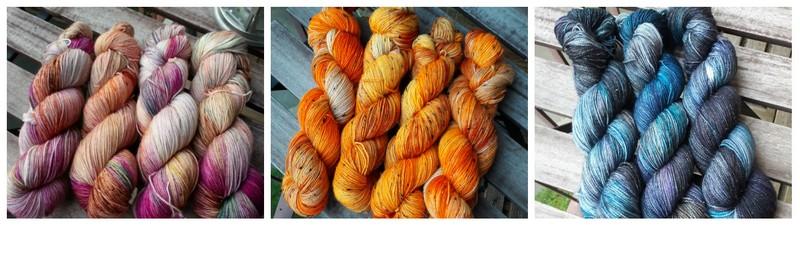 laines teintes à la main