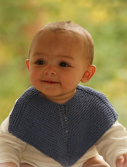tricot bavoir bébé