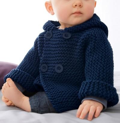 tricot manteau bébé
