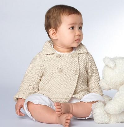 veste layette tricot bébé