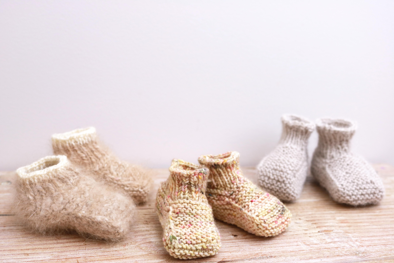 chaussons bébé tricot tuto