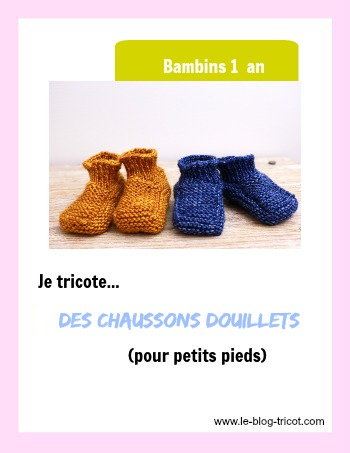 chaussons douillets 1 an