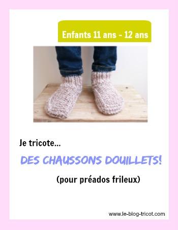 chaussons douillets 11-12ans