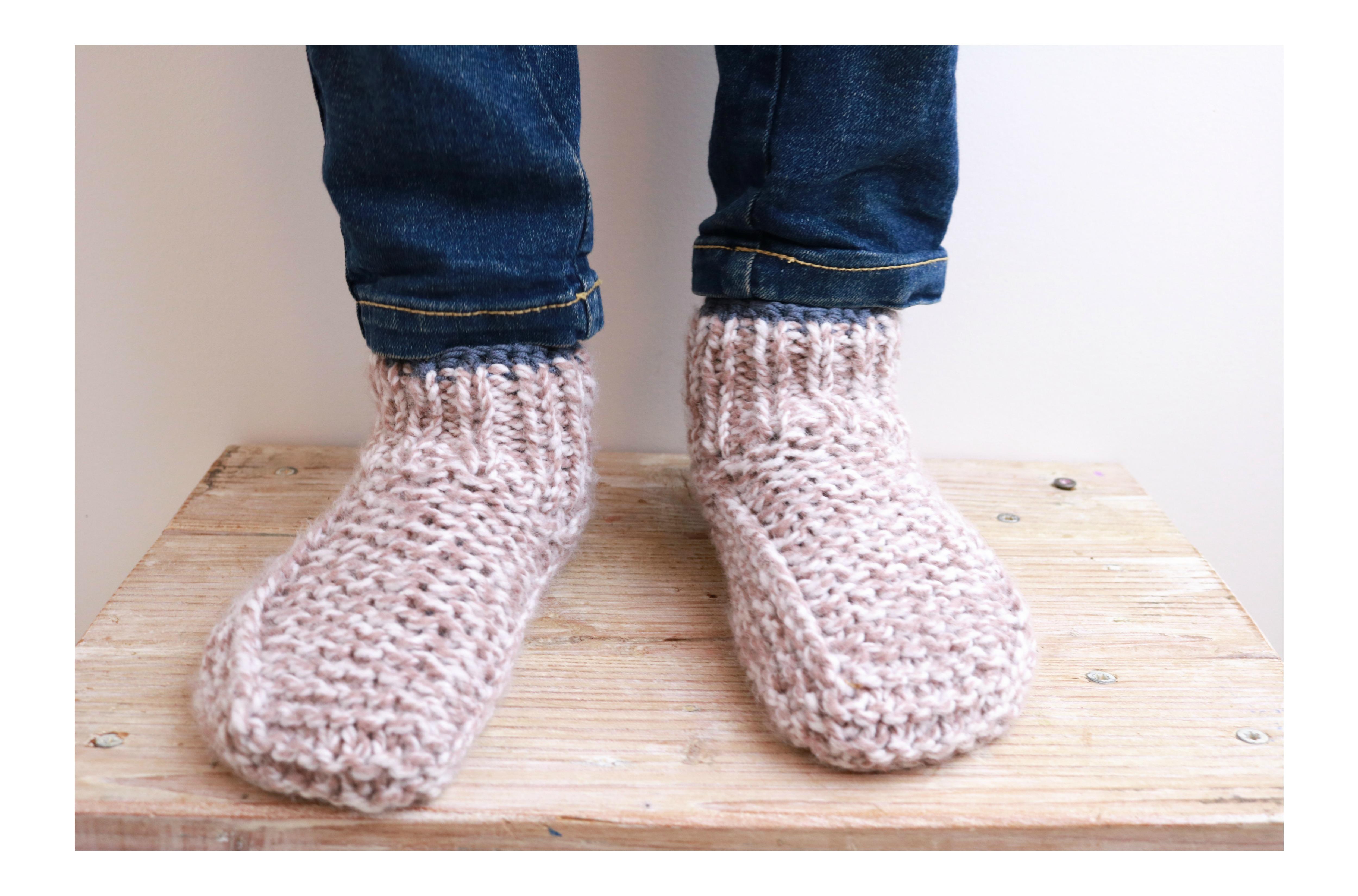 chaussons enfants modèles tricot facile