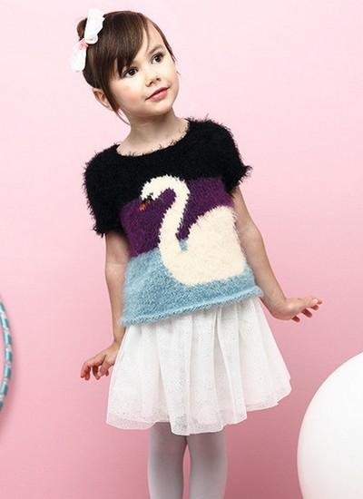 tricot jacquerd fille modèle gratuit