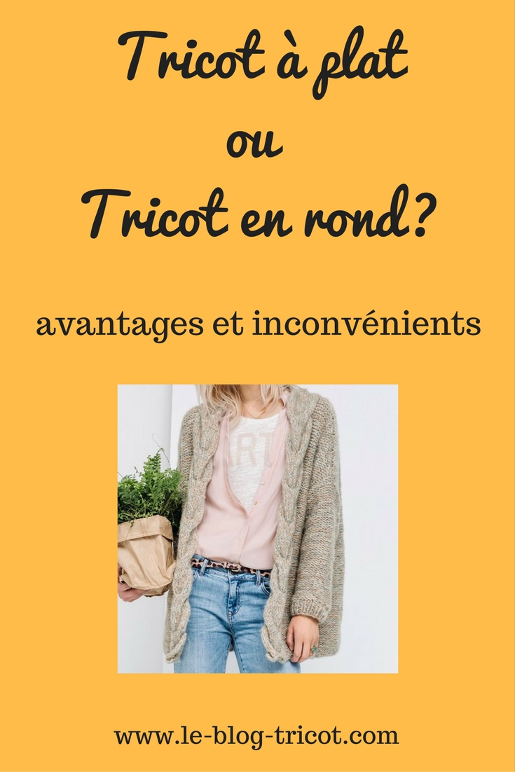 tricot plat rond