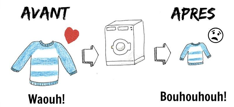 laver un tricot