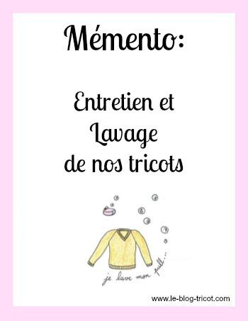 mémento entretien tricot