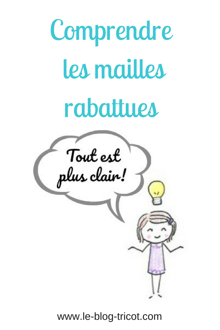 mailles rabattues pinterest