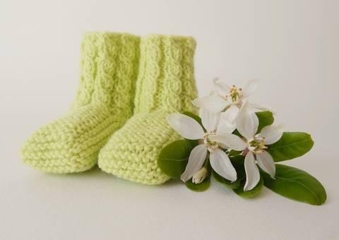 chaussons bébés thali créations tricot torsades